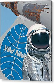 Acrylic Print featuring the painting Pan Am by Scott Listfield