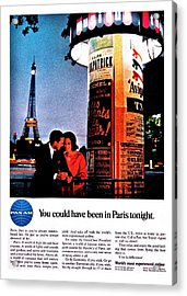Pan Am To Paris Acrylic Print by Benjamin Yeager