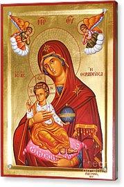 Panagia - Virgin Mary Acrylic Print by Theodoros Patrinos