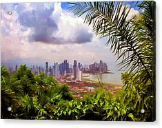Panama City From Ancon Hill Acrylic Print