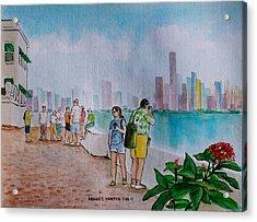 Panama City Panama Acrylic Print by Frank Hunter