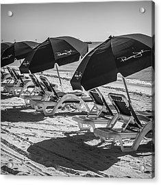 Panama Jack Blues - Higgs Beach - Key West - Square - Black And White  Acrylic Print