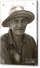 Panamanian Country Man Acrylic Print by Heiko Koehrer-Wagner