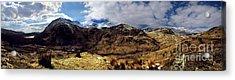 Panaramic Snowdonia Mountains Acrylic Print