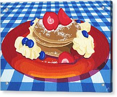 Pancakes Week 10 Acrylic Print by Meg Shearer