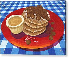 Pancakes Week 4 Acrylic Print by Meg Shearer