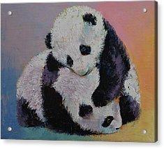 Baby Panda Rumble Acrylic Print