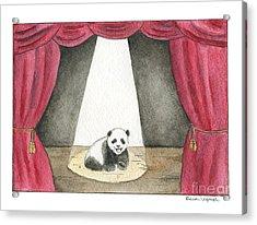 Panda Cub On Center Stage Acrylic Print by Erica Vojnich