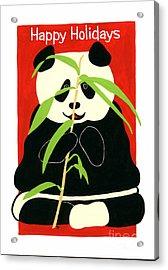 Panda Greetings Acrylic Print