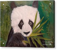 Acrylic Print featuring the painting Panda by Jenny Lee