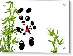 Panda Mom With A Baby Acrylic Print by Ausra Huntington nee Paulauskaite