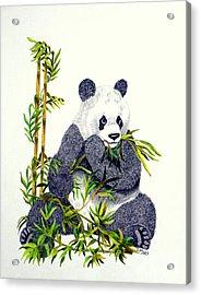 Panda  Acrylic Print by Terri Mills