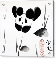 Panda Time Acrylic Print by Oiyee At Oystudio