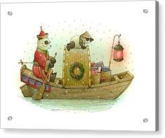 Pandabears Christmas Acrylic Print by Kestutis Kasparavicius