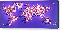 Pandemic Disease Acrylic Print by Tim Vernon
