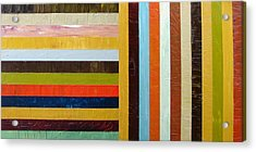 Panel Abstract L Acrylic Print by Michelle Calkins
