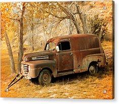 Panel Truck Acrylic Print by Leland D Howard