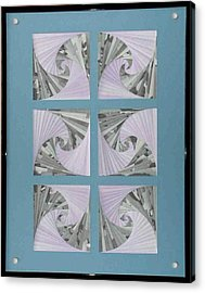 Acrylic Print featuring the mixed media Panes by Ron Davidson