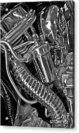 Acrylic Print featuring the photograph Panhead Poetry by Linda Bianic