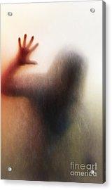 Panic Silhouette Acrylic Print by Carlos Caetano