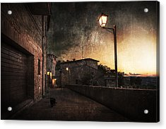 Panicale At Sunset Acrylic Print