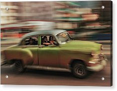 Panning Havana Acrylic Print by Andreas Bauer
