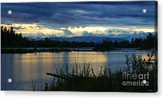 Pano Denali Midnight Sunset Acrylic Print