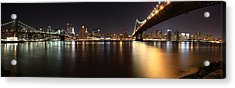 Pano Manhattan Large Acrylic Print by Paslier Morgan