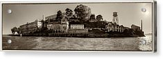 Panorama Alcatraz Torn Edges Acrylic Print by Scott Campbell