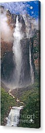 Panorama Angel Falls In Canaima National Park Venezuela Acrylic Print by Dave Welling