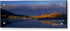 Acrylic Print featuring the photograph Panorama Clearing Storm Oxbow Bend Grand Tetons National Park Wyoming by Dave Welling