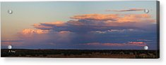 Panorama Colors In The Clouds Acrylic Print by Roena King