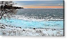 Panorama Freeze - Horsey Bay - Kingston - Canada Acrylic Print