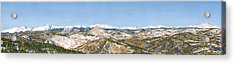 Panorama From Flagstaff Mountain Acrylic Print by Anne Gifford