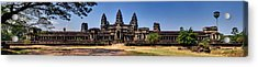 Acrylic Print featuring the photograph Panorama - Hi-res - National Heritage In Angkor Wat Cambodia by Afrison Ma