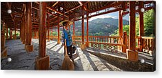 Acrylic Print featuring the photograph Panorama - Hi-res - Wooden Bridge And It's Cleaner by Afrison Ma
