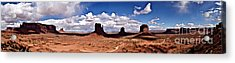 Panorama - Monument Valley Park Acrylic Print by David Blank