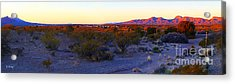 Panorama Morning View Of Mountains Acrylic Print by Roena King