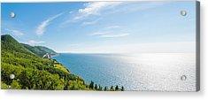 Panorama Of A Coastal Scene On The Cabot Trail Acrylic Print