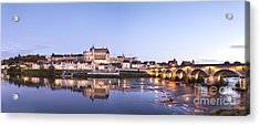Panorama Of Amboise Loire Valley France Acrylic Print by Colin and Linda McKie