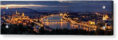 Panorama Of Budapest Acrylic Print by Thomas D M?rkeberg
