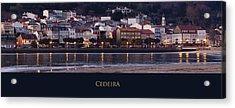 Panorama Of Cedeira Galicia Spain Acrylic Print