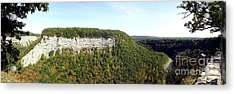 Panorama Of Cliff At Letchworth State Park Acrylic Print