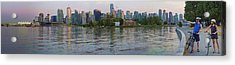 Panorama Of Coal Harbour And Vancouver Skyline At Dusk Acrylic Print by David Smith