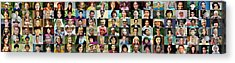 Panorama Of Diverse Faces Acrylic Print