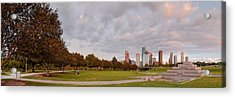 Panorama Of Downtown Houston And Police Memorial - Houston Texas Acrylic Print