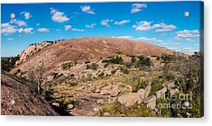 Panorama Of Enchanted Rock State Natural Area - Fredericksburg Texas Hill Country Acrylic Print