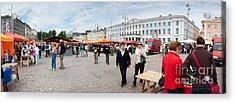 Panorama Of Helsinki Inner Harbor Panorama Acrylic Print by Thomas Marchessault
