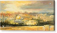 Panorama Of Jerusalem Acrylic Print