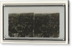 Panorama Of Prague, May Possibly Ferrier Pere Et Fils Acrylic Print by Artokoloro